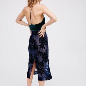 FREE PEOPLE • velvet slip dress